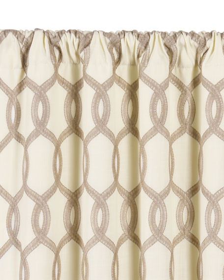 "Gresham Rod Pocket Curtain Panel, 108""L"