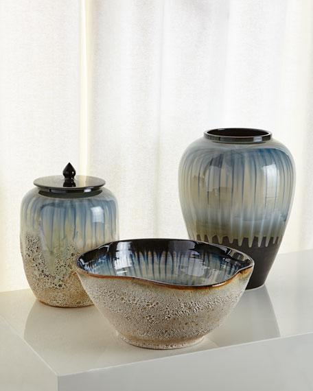 White and Smalt Blue Jar