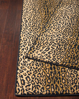 Midnight Cheetah Rug, 3' x 5' and Matching Items