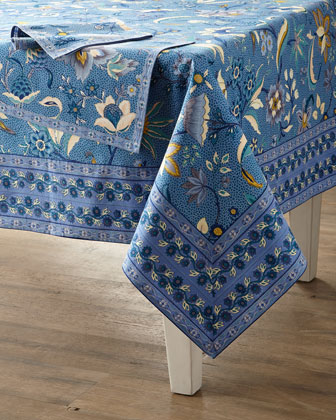 Kerala Sapphire Tablecloth  60 x 90  and Matching Items