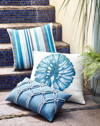 Lagoon Stripe Pillow, 20
