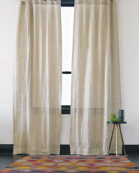"Yearling Pearl Pinch Pleat Curtain Panel, 108""L"