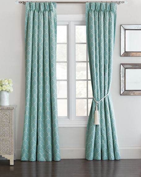 "Theodore Rod Pocket Curtain Panel, 96""L"