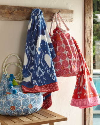 Lita Tote & Vaya Towel, Blue  and Matching Items