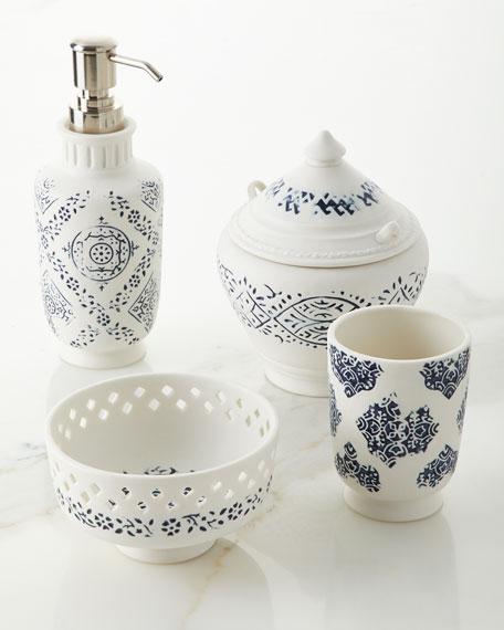 Lakki Porcelain Lotion Pump, Blue