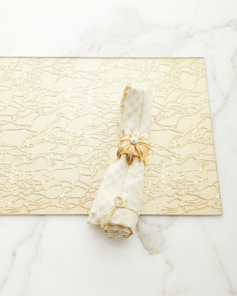 Modern Artistic Glass Rectangle Placemat  Gold  and Matching Items