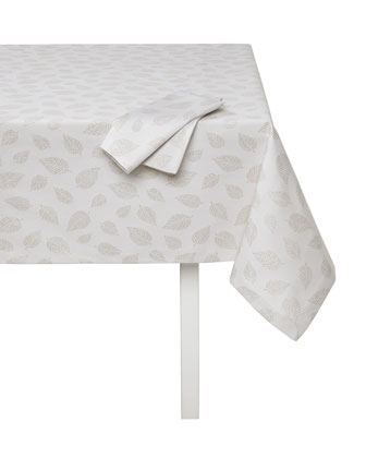Ivy Tablecloth with Metallic Leaves
