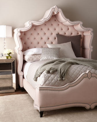 Queen Blush Antoinette Bed and Matching Items