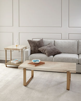 Samer Travertine-Top Coffee Table  and Matching Items