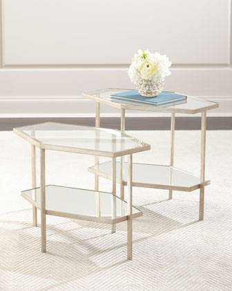 Valeria Hex Side Table, 18
