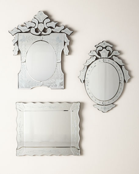 Ornate Shaped Venetian Mirror