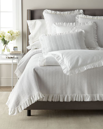 Laundered Ruffle King Pillowcase  and Ma Thread Counthing Items
