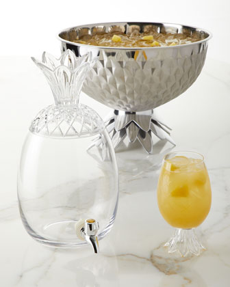Pineapple Punch Bowl  and Matching Items