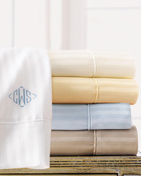 Two Extra Standard 600TC Pima Stripe Pillowcases