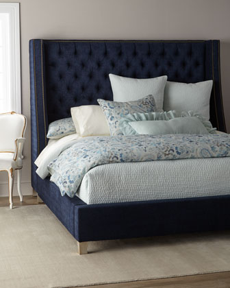 Kniles Tufted King Bed  and Matching Items