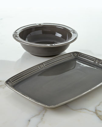 Berry & Thread French Panel Stone Serving Bowl, 11.5
