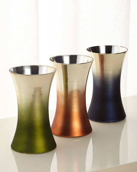 Ombre Tapered Vase, Blue