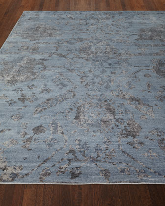 Jubilant Sky Hand-Knotted Rug, 8' x 10' and Matching Items