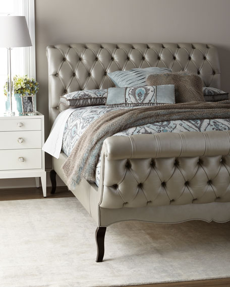 Duncan Fife Leather Queen Bed