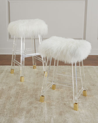 Darnell Acrylic and Sheepskin Bar Stool  and Matching Items