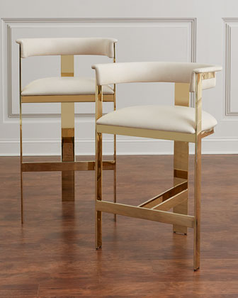 Darla Brass and Leather Bar Stool  and Matching Items