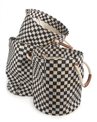 Courtly Check Large Storage Tote  and Matching Items