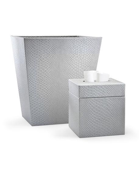 Conda Wastebasket, Silver