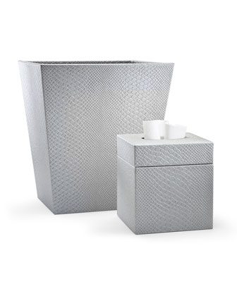 Conda Wastebasket, Silver  and Matching Items
