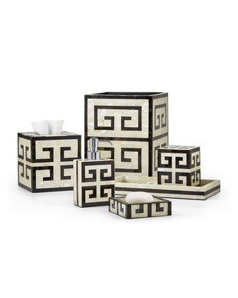 Greek Key Tissue Box Cover  and Matching Items