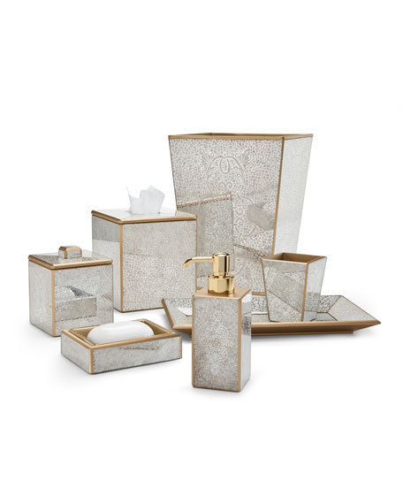 Miraflores Tissue Box Cover, Gold