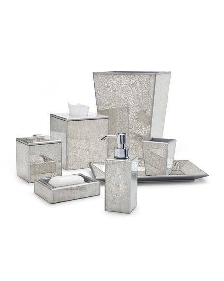 Miraflores Tissue Box Cover, Silver