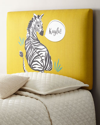 Zebra Twin Headboard, Personalized  and Matching Items