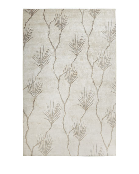 Palm Hand-Knotted Rug, 12' x 15'