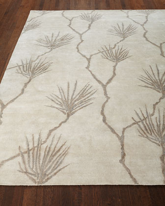Palm Hand-Knotted Rug