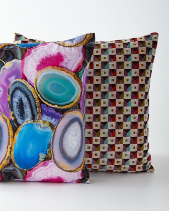 Collage-Print Decorative Pillow  and Matching Items
