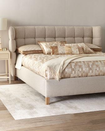 Maya Tufted King Shelter Bed  and Matching Items