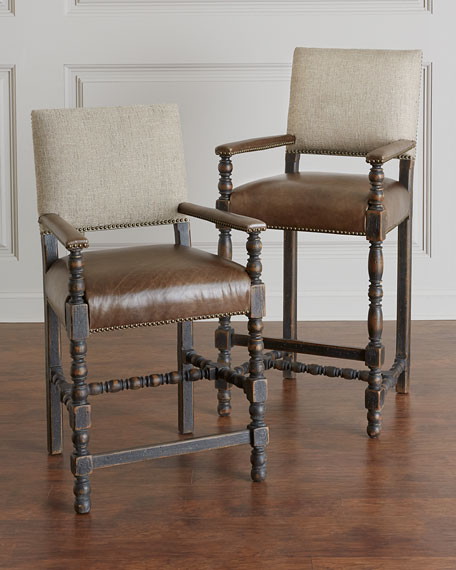 Casella Leather Counter Stool