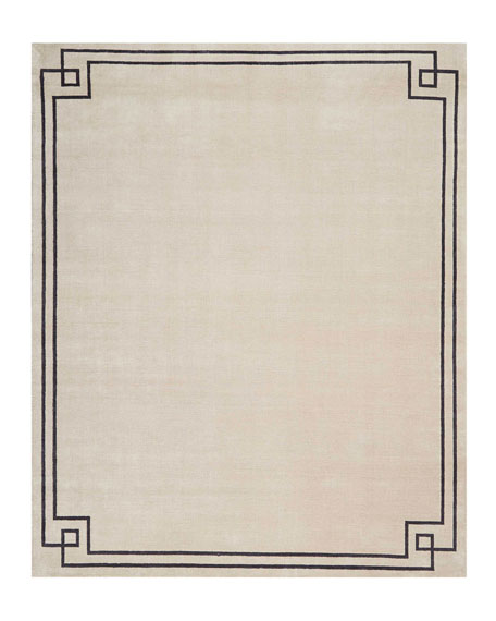 Finesse Mediterranean Sand Hand-Knotted Rug, 9' x 12'