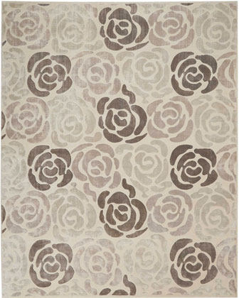Fleurs Hand-Knotted Rug, 8' x 10' and Matching Items