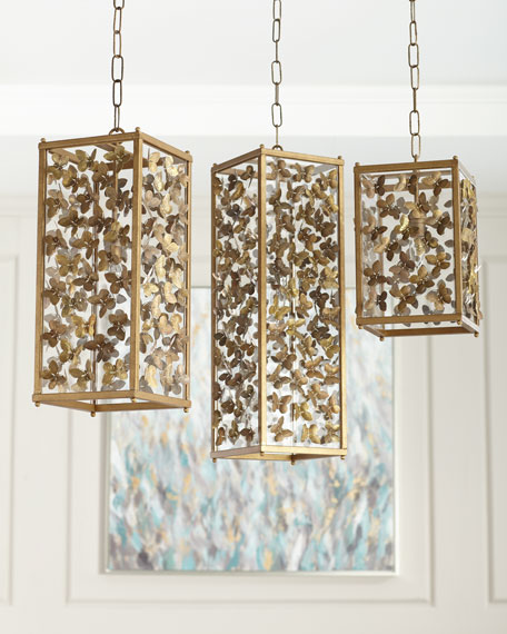 Butterfly pendant lights