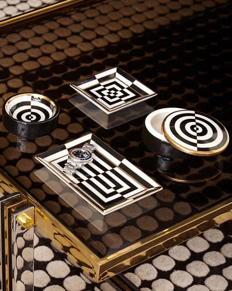 Op Art Rectangle Tray