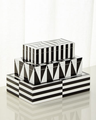 Op Art Small Stacking Box  and Matching Items