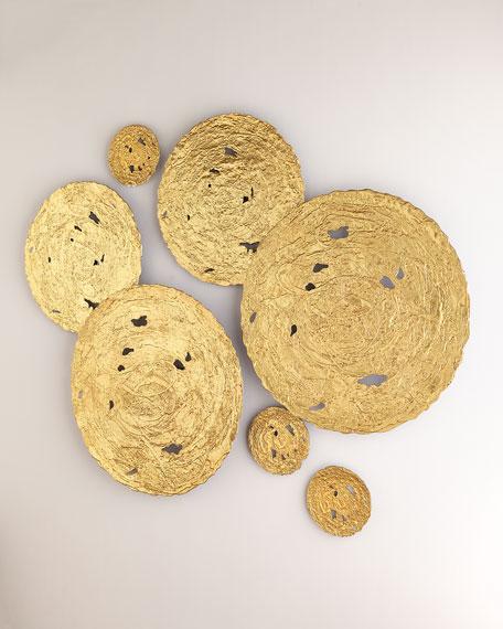 Medium Gold Circle Wall Decor