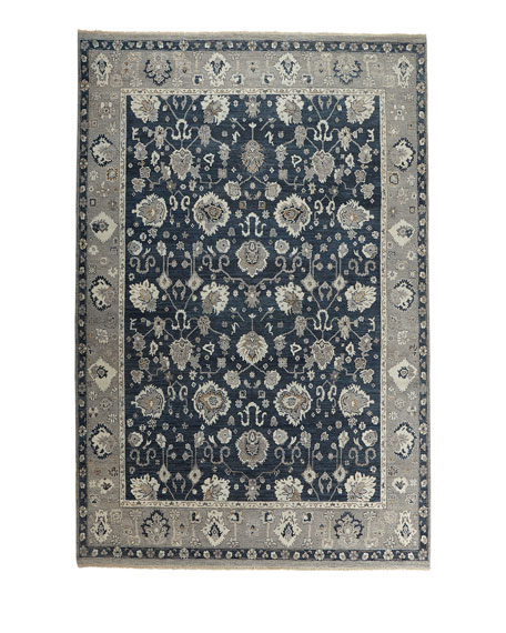 Bluestar Hand-Knotted Rug, 10' x 14'