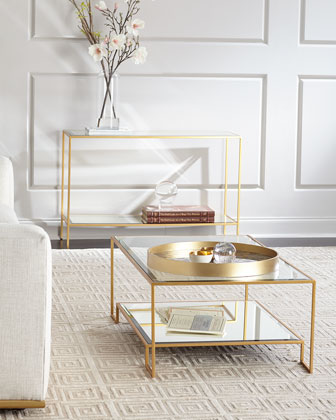 Raja Mirrored Console Table and Matching Items