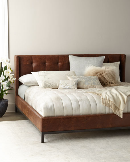 Patterson Tufted Platform Queen Bed