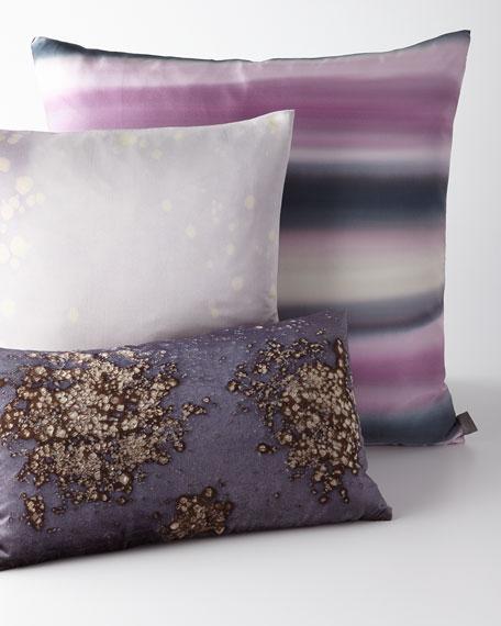 "Gravity Gradient Striped Pillow, 24""Sq."