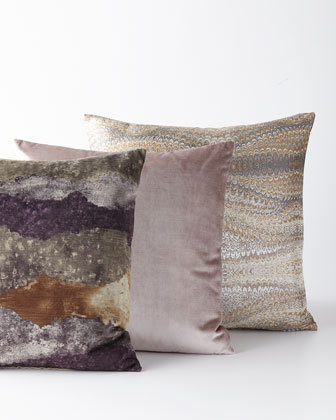 Imogen Metal Knife-Edge Pillow  and Matching Items