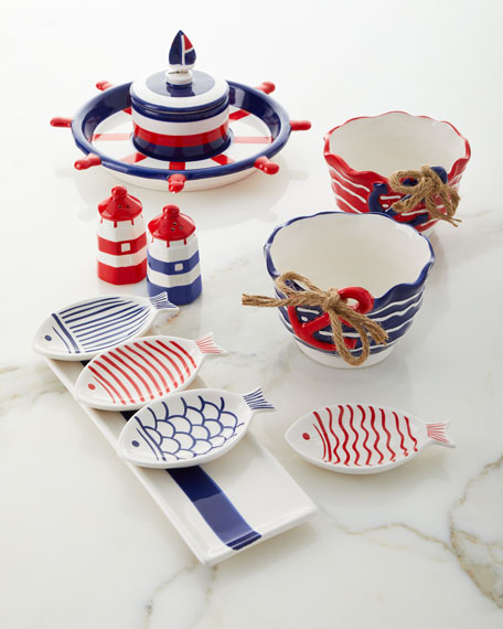 Anchors Away Bowls, Set of 2