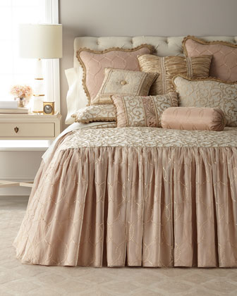 Chamonterie King Skirted Coverlet  and Matching Items